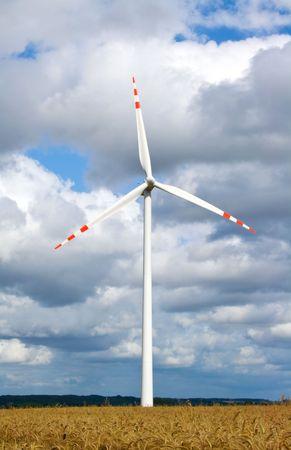 object series: wind turbine in field Stock Photo - 5267151