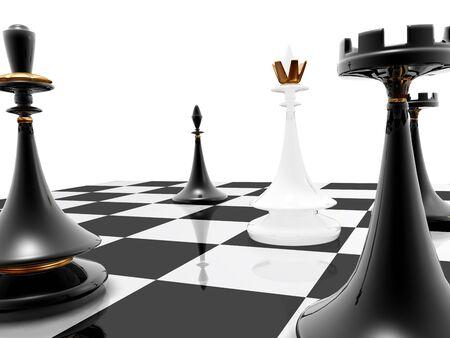 Schachmatt: 3d render Serie: Schach-Matt: