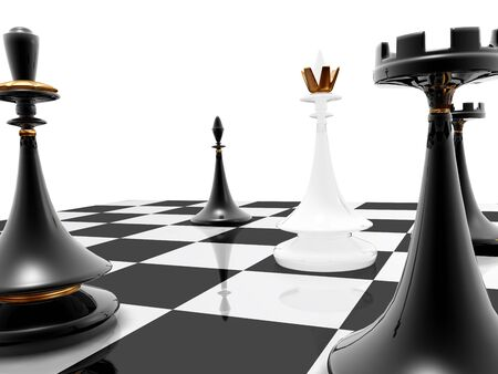 checkmate: 3d render series: chess: checkmate