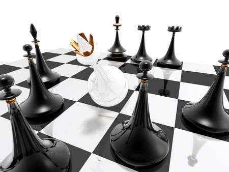 3d render series: chess: checkmate photo