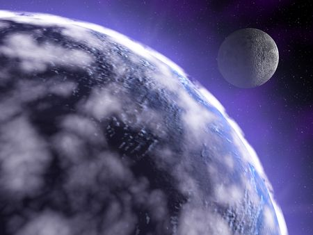 3d render series: earth in space photo