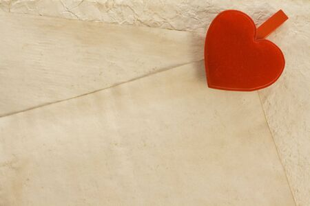 background series: background with heart and old paper