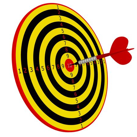 dart series: 3d render series: target in dart Stock Photo