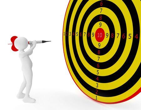 3d render series: female with dart Standard-Bild