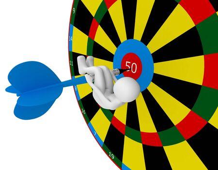 dart series: 3d render series: girl with dart