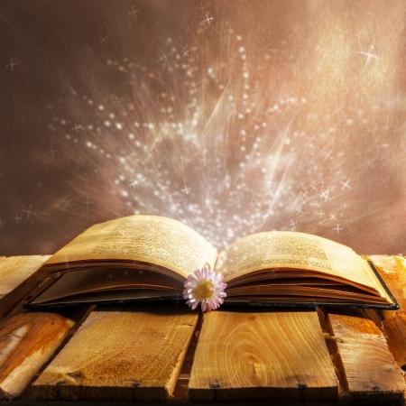 Ouvrir la magie du livre Banque d'images - 25242090