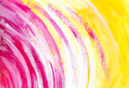 Yellow watercolor background with a colored circles photo