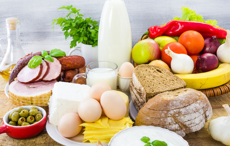 Miscellaneous food products including dairy products, bread and meat