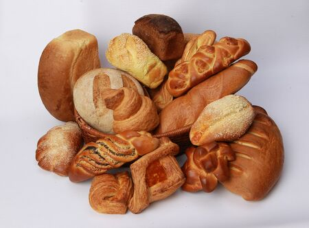 bakery products: Bakery and pastry products on a white background isolated