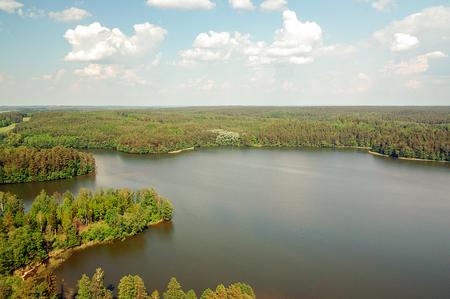 masuria: Lake W?giel Masuria Poland Piecki around.