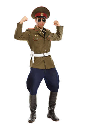 dictator: Portrait of a man dressed as a military dictator Stock Photo