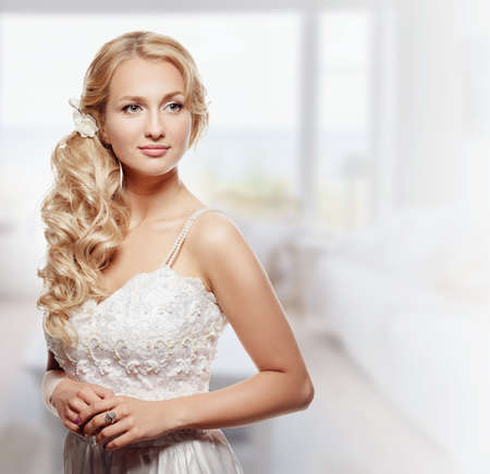 Portrait of Beautiful Young Fashion Bride  photo