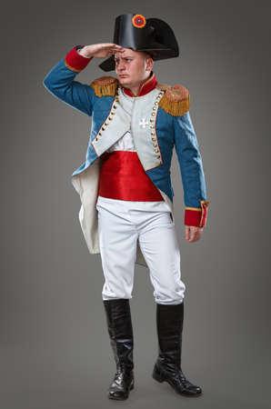 Actor dressed as Napoleon  Historical costume  photo
