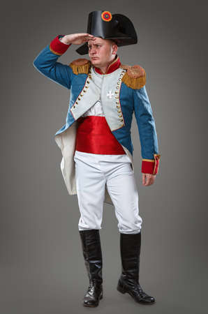 cocked hat: Actor dressed as Napoleon  Historical costume