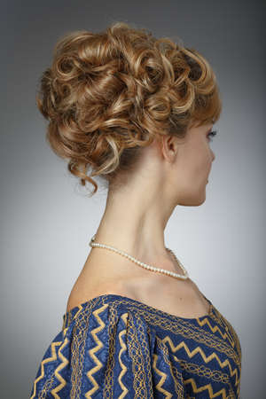 updo: Portrait of a beautiful woman. Natural beauty.