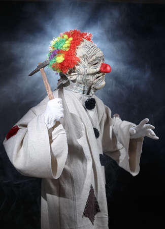 Scary monster clown. photo