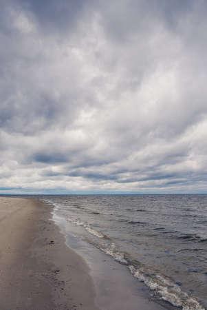 Sea shore. Vintage toned image.