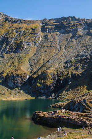 balea: Balea Lake - Transfagarasan Stock Photo