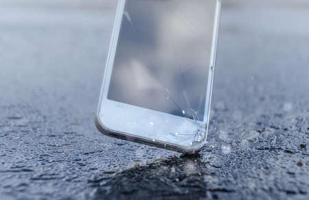 Telefoon raakt de straat Stockfoto