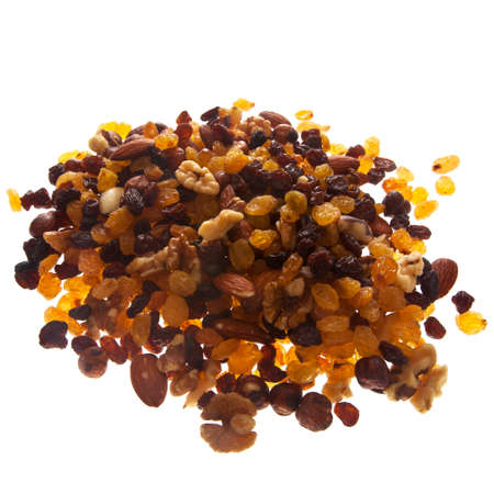 mix of nuts and dried fruits for energy