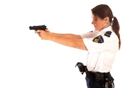 shooting female dutch police officer Stock Photo - 11646697