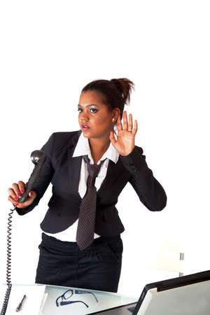secretary listening