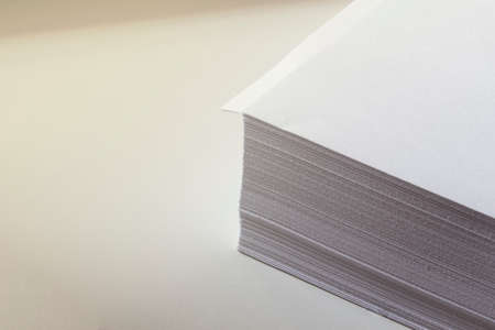 stack of papers: white paper on the desk
