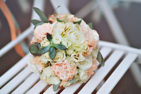 gentle: gentle pink and white brides bouquet