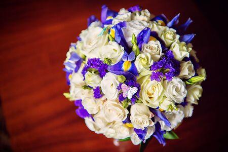 Hochzeitsstrauss Der Blumenstrauss Der Braut In Den Rosa Tonen Auf