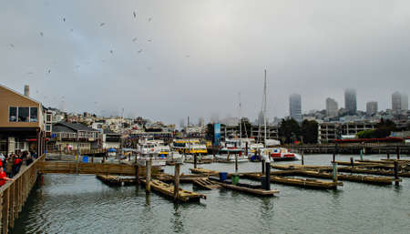 u s a: San Francisco, U S A  - April 6, 2007  The pier 39 at Fisherman