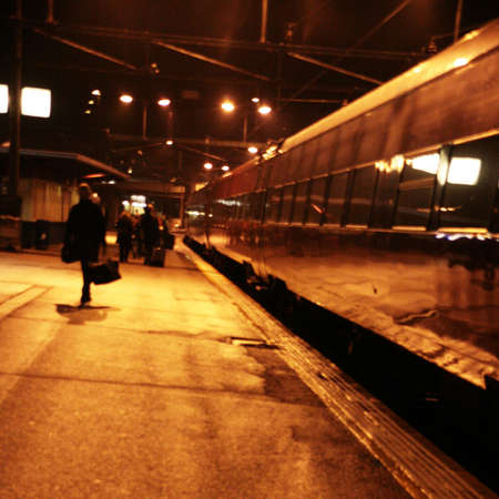illustration of train on platform with passangers   illustration
