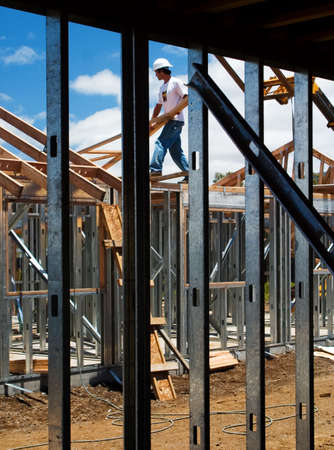 steel beam: illustration of construction site