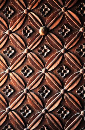 rn: illustration of carved wood door rn