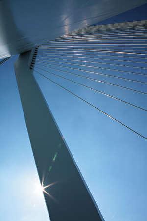 The Erasmus Bridge in Rotterdam, Netherlands