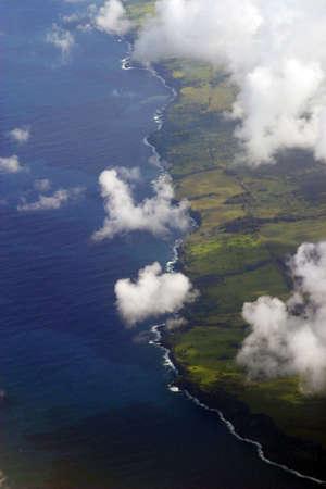 Aerial coastline view of Kohala Coast of Hawaii Zdjęcie Seryjne