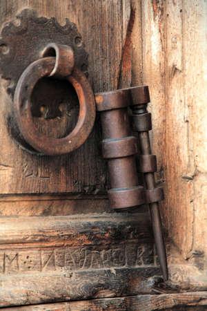 ancient wooden door   Zdjęcie Seryjne