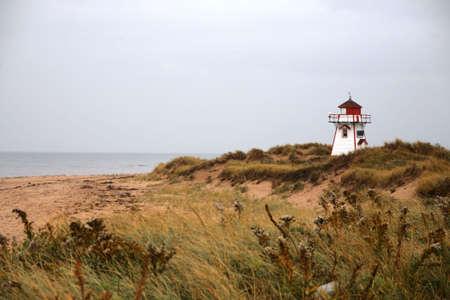 lighthouse on field