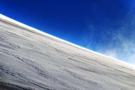 ice slide: illustration of snowy downhill