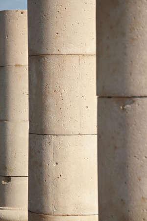 view of pillars of Roman Coliseum