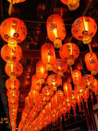 illustration of hanging Chinese lanterns