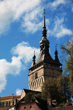 transylvania: Tower in Sighisoara, Transylvania, Romania