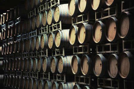 ferment: illustration of Wine barrels    Stock Photo