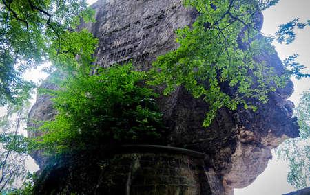 schweiz: Big rock in Basteibrcke Schsische - Schweiz