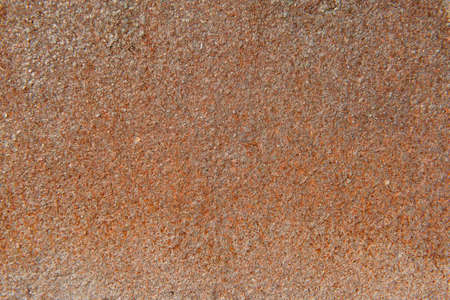 Texture rusty metal sheet brick red