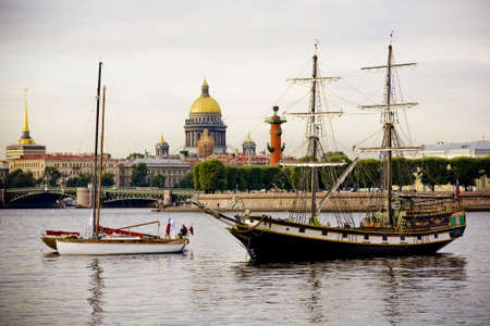 st  petersburg: Festival of classic yachts in St. Petersburg