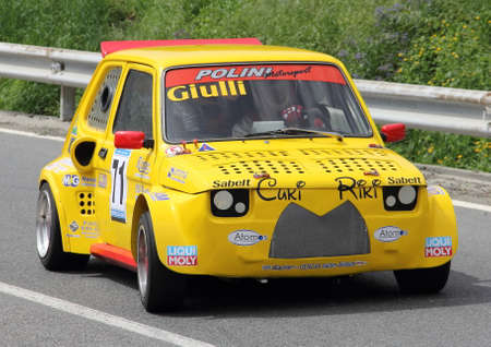 processing speed: Fiat 126 prototype race car Editorial
