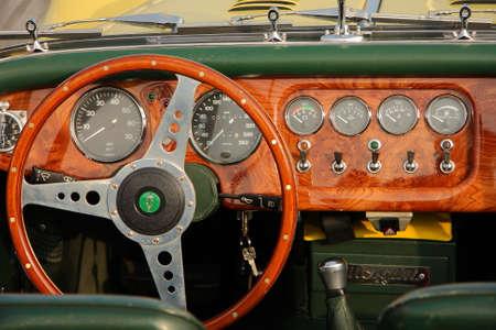 regularity: dashboard of historic car
