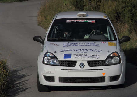 processing speed: racing car Renault Clio to Genoese valleys rally 2015