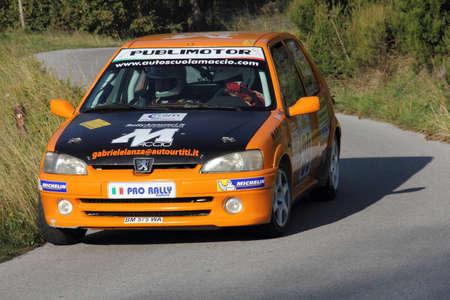 genoese: racing car Peugeot 106 to Genoese valleys rally 2015