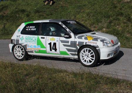 genoese: racing car Renault Clio to Genoese valleys rally 2015